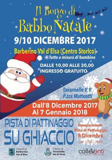 Babbo Natale 8 Dicembre Roma.Un Natale Da Lapponia Comune Di Barberino Val D Elsa